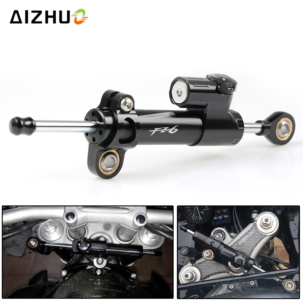 Motorcycle Accessories Steering Stabilizer Damper Safety Control For yamaha FZ6 FAZER 2004 2005 2006 2007 2008