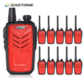10pcs Zastone ZT-MINI8 Mini Walkie Tokie UHF 400-470MHz 128CH 5W Walkie Talkie Two Way Radio Portable Handheld HF Transceiver