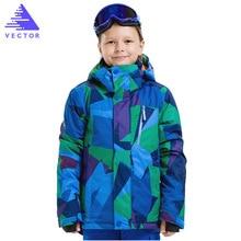 Kids Winter Warm Outdoor Ski Jacket For Boys Girls Children Clothing Snowboard  Waterproof Windproof