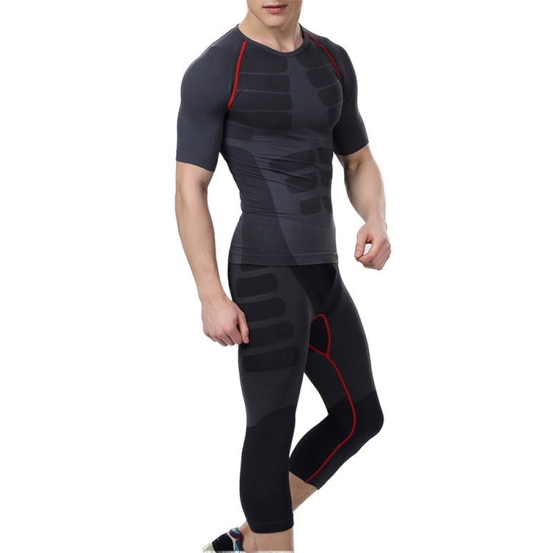 2017 Men Quick-Dry Athletic Short Pants Compression Train Base Layers Skin Sports Running Tights