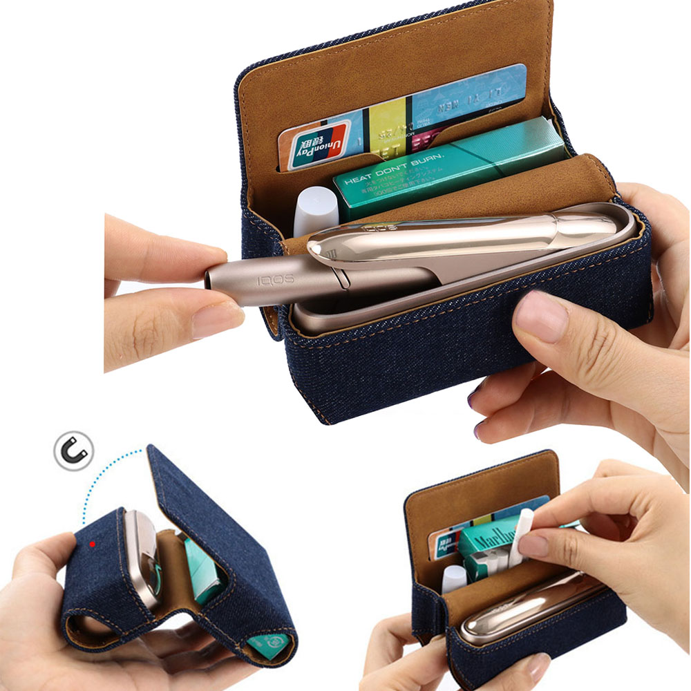 JINXINGCHENG Fashion New Filp Wallet Pouch Case For IQOS 3 Case  Cover For IQOS 3.0 Protective Accessories