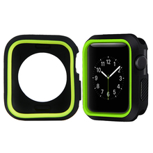 Bumper Cover for Apple Watch Case Fashion TPU Protective i 4 40mm rubber double color Series Covers P15