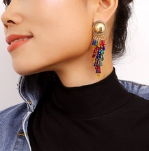 Europe and the United States national wind special tourism tassel fashion earrings adorn article