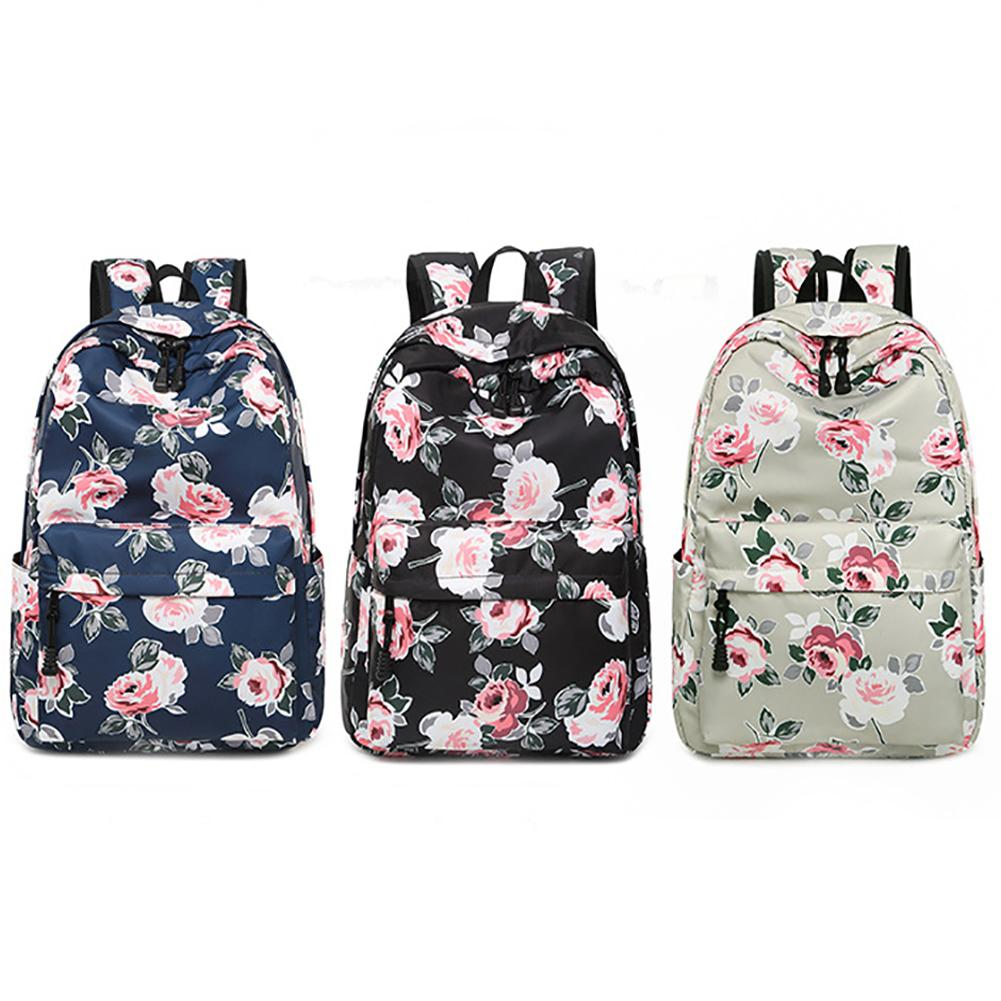 Backpack Women Fresh Style Floral Print Bookbags Canvas Waterproof School Bags For Girls Rucksack Female Mochilas Mujer 2018