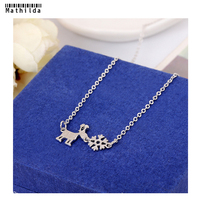 Mathilda Christmas Reindeer Snowflake Pendant Necklace S925 Silve Charms Necklace Women Jewelry Christmas Gift RS006