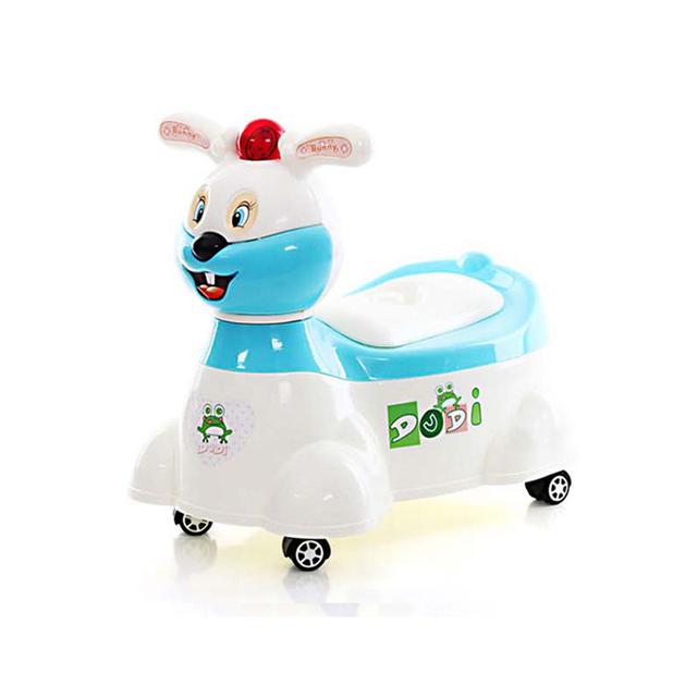 Multi-función de Conejo de Dibujos Animados de Baño Para Bebé Nuevo Diseño Bebés Cerca Formación Fancy Taburete Con Ruedas Y Reproductor de Música urinario