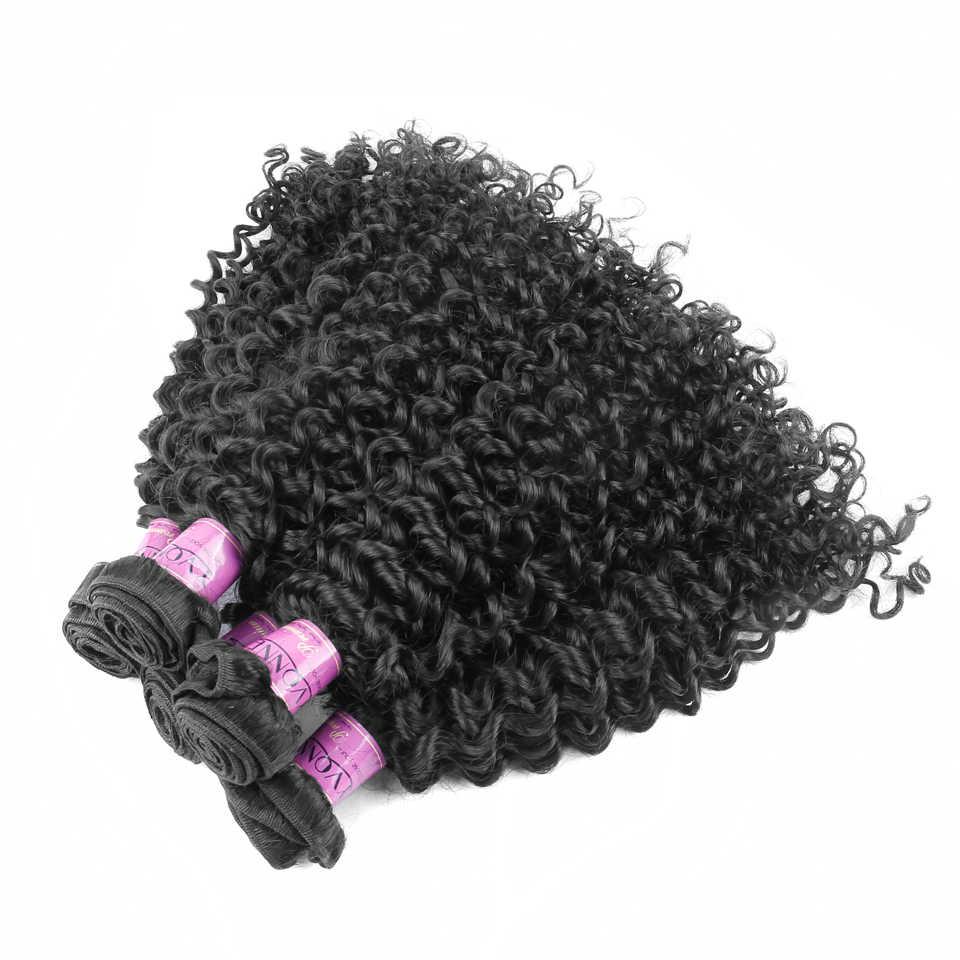 Yonne 3C 4A cabello virgen rizado malayo 3 paquetes cabello humano tejido Color Natural