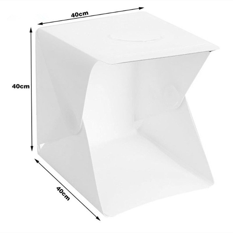 40cm Led Light Mini Photo Studio Box Photography LED Light Room Tent Tabletop Shooting Soft Box Accessories Backdrops Lightbox in Tabletop Shooting from Consumer Electronics