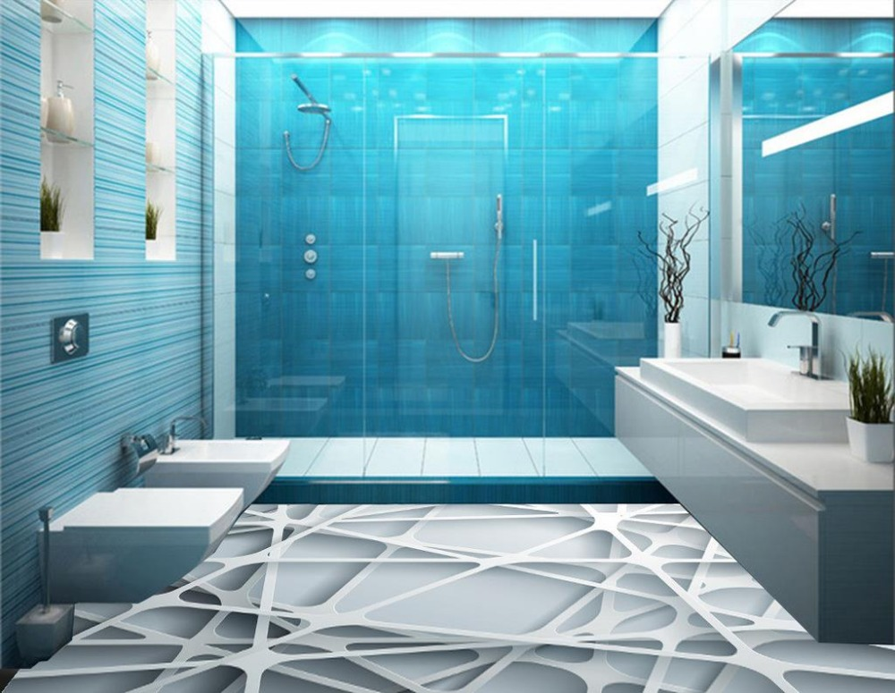 Patterned Bathroom Floor Vinyl