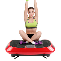 Exercise Electrical Vibration Plate Fitness Platform with 4D vibration technology Body Shaper Trainer with Bands HWC