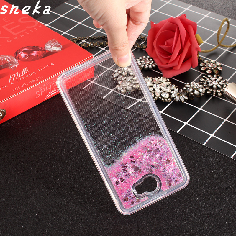 Untuk kes Huawei Y5 II Dynamic Liquid Glitter Sand Quicksand Star Cases Crystal Clear phone Back Cover For Huawei Y5 II Y5II Case