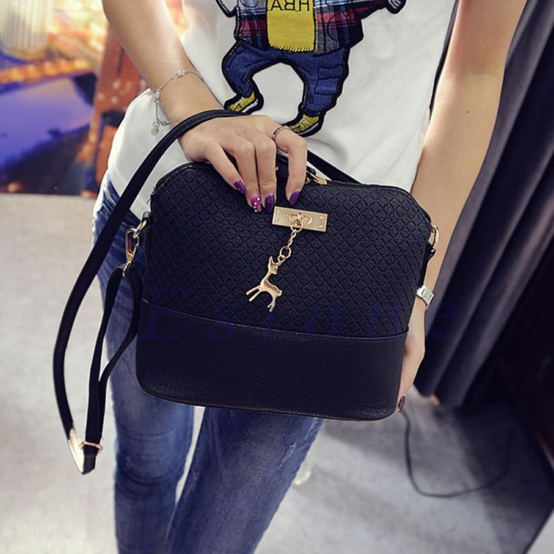 THINKTHENDO Faux Leather Fashion Women Cross Body Tote Purse Handbag Messenger Shoulder Bags 2018 women messenger bags vintage cross body shoulder purse women bag bolsa feminina handbag bags custom picture bags purse tote
