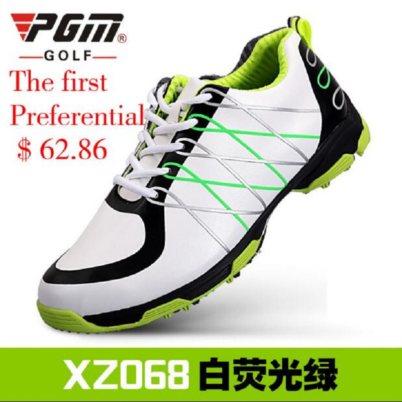 New PGM golf of shoes Men's microfiber skidproof patent waterproof Leather golf Men sports shoe Breathable Professional Training genuine pgm golf shoes men waterproof xz937 rubber cotton fabric eva breathable beginner white zapatos de golf deporte golf shoe