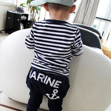 Marine Navy Long Sleeve Clothing Set 2-8 Years