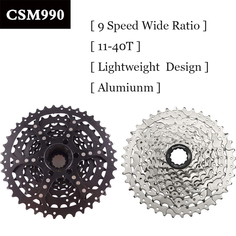 SunRace Bicycle Freewheel 9 Speed Mountain Bicycle Cassette 11-40T