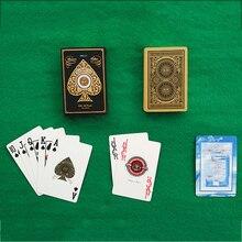 Poker Cards Waterproof Golden Playing Cards Deck gold foil poker set Magic card Plastic foil poker Durable Waterproof Cards