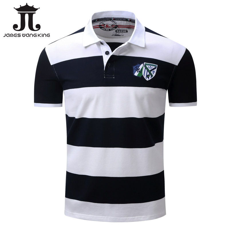 New big striped   polo   shirt men 2018 spring Short Sleeve   polo   male casual 100% cotton breathable Camisa   polo   homme