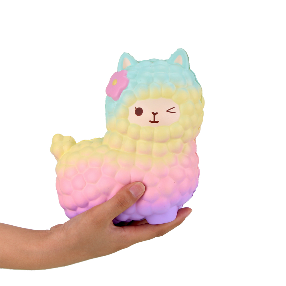 Squsihies Stress Toys Squishy Slow Rising Stress Toys Alpaca 7.1 Rainbow (17)