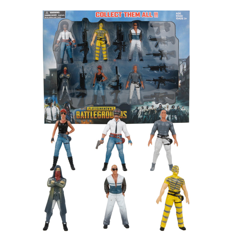 2018 PUBG Game Playerunknowns Battlegrounds Action Figure Toys 9cm Characters Dolls with Weapons Accessories For Kid Party Gift