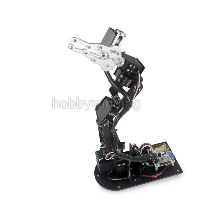 2018 new upgrade 6 DOF Robot Metal Alloy Mechanical Arm Clamp Claw Kit digital Servos optional for Arduino Robotic Education abb 6dof industrial robot mechanical arm alloy robotics arm rack with servos for arduino assembled