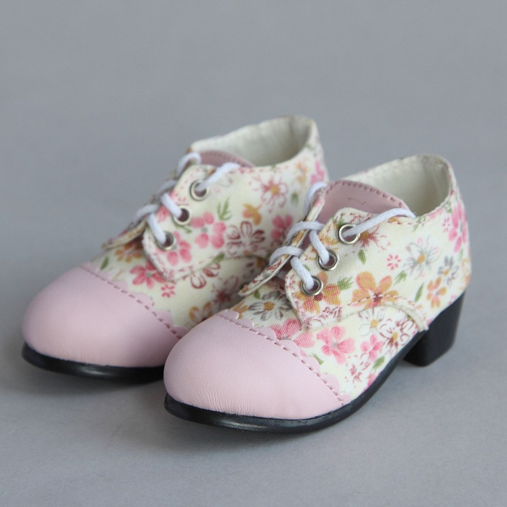 [wamami] 48# Pink Flower 1/4 MSD DOD BJD Dollfie Medium Heel Shoes [wamami] 299 pink clothes dress suit msd 1 4 bjd dollfie