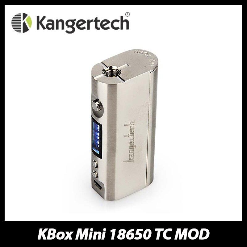 100% D'origine Kanger Kbox Mini Platine 60 W TC Boîte Mod E cig VW Temp Contrôle 18650 Mod Fit Réservoir Secondaire Mini Nano Débardeur atomiseur