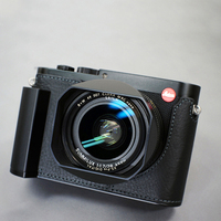 Milicase Handmade Genuine Leather Camera case Half Bag Body For Leica Q Typ 116