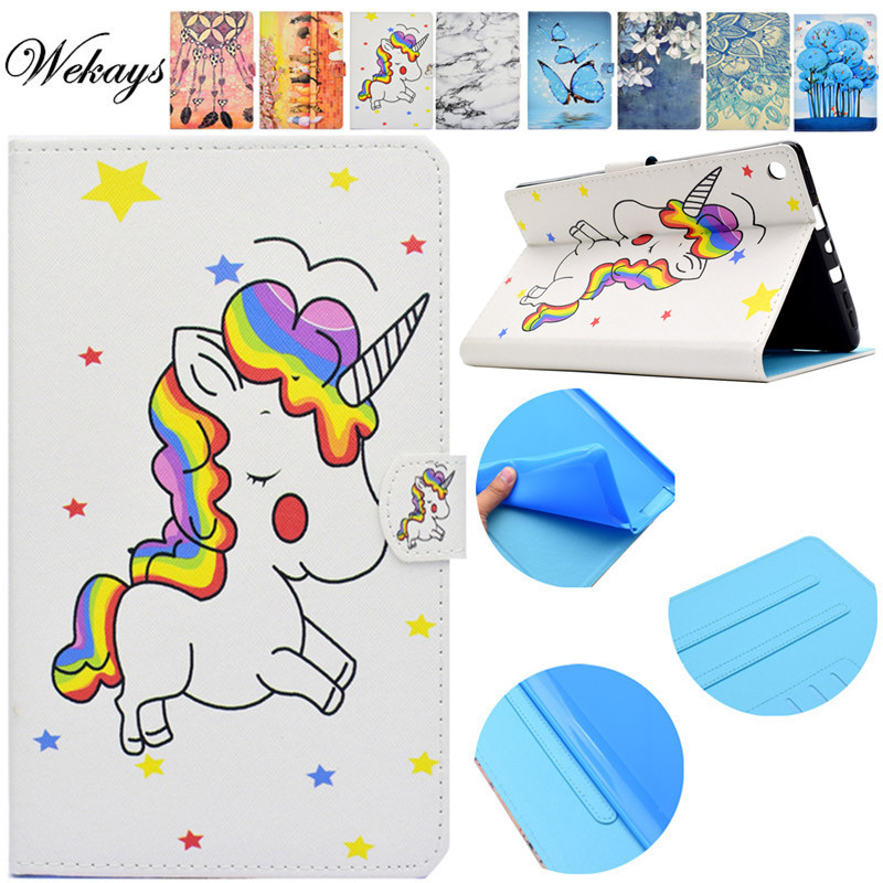 Wekays Für <font><b>Amazon</b></font> HD8 2017 2016 Cartoon Unicorn Ledertasche für <font><b>Amazon</b></font> Kindle Feuer HD8 <font><b>HD</b></font> <font><b>8</b></font> 2017 2016 <font><b>8</b></font>,0