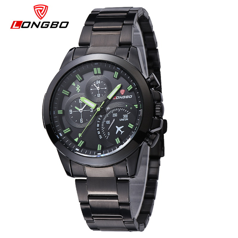 New Arrival 2017 Longbo Top Quality Wrist Watches With Big Face Dial Luminous Hands Pointer Male Watch Clock horloge saat 80228 longbo 2017 big promotion watches clock for men women gentl ladies stainless steel wristwatches with big face dial dropshipping