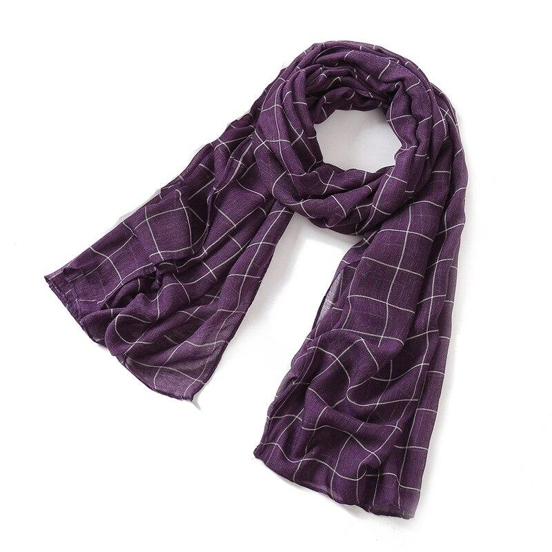2019 new spring women scarf fashion plaid cotton scarves shawls and wraps soft large size pashmina lady scarves foulard hijabs