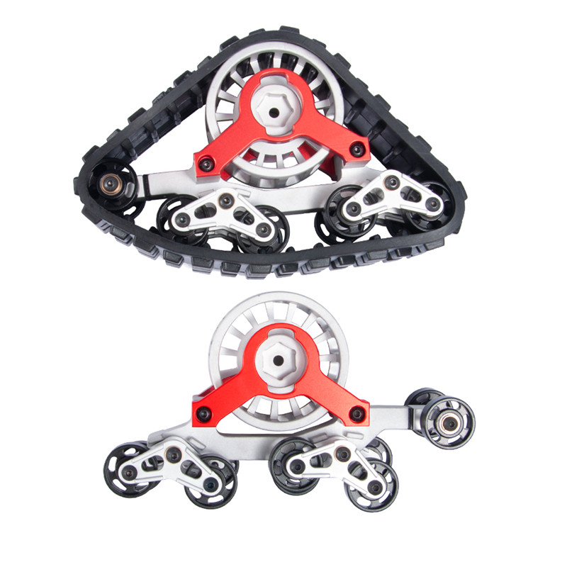 2 PAIR Tracks Wheels Conversion Snow Tire for 1/10 RC AXIAL SCX10 Rock Crawler Upgrade part 2 PAIR Tracks Wheels Conversion Snow Tire for 1/10 RC AXIAL SCX10 Rock Crawler Upgrade part
