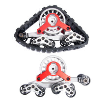2 PAIR Tracks Wheels Conversion Snow Tire for 1/10 RC AXIAL SCX10 Rock
