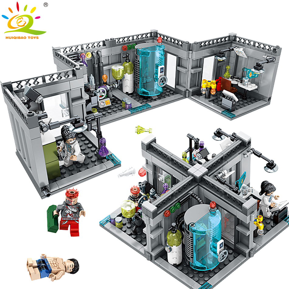 City Police Biochemical Lab Building Blocks Compatible Legoe technic City Classic Figures Bricks Toys For Children technic 2 in 1 rally car lepin building blocks set bricks city classic model kids toys for children gift compatible legoe