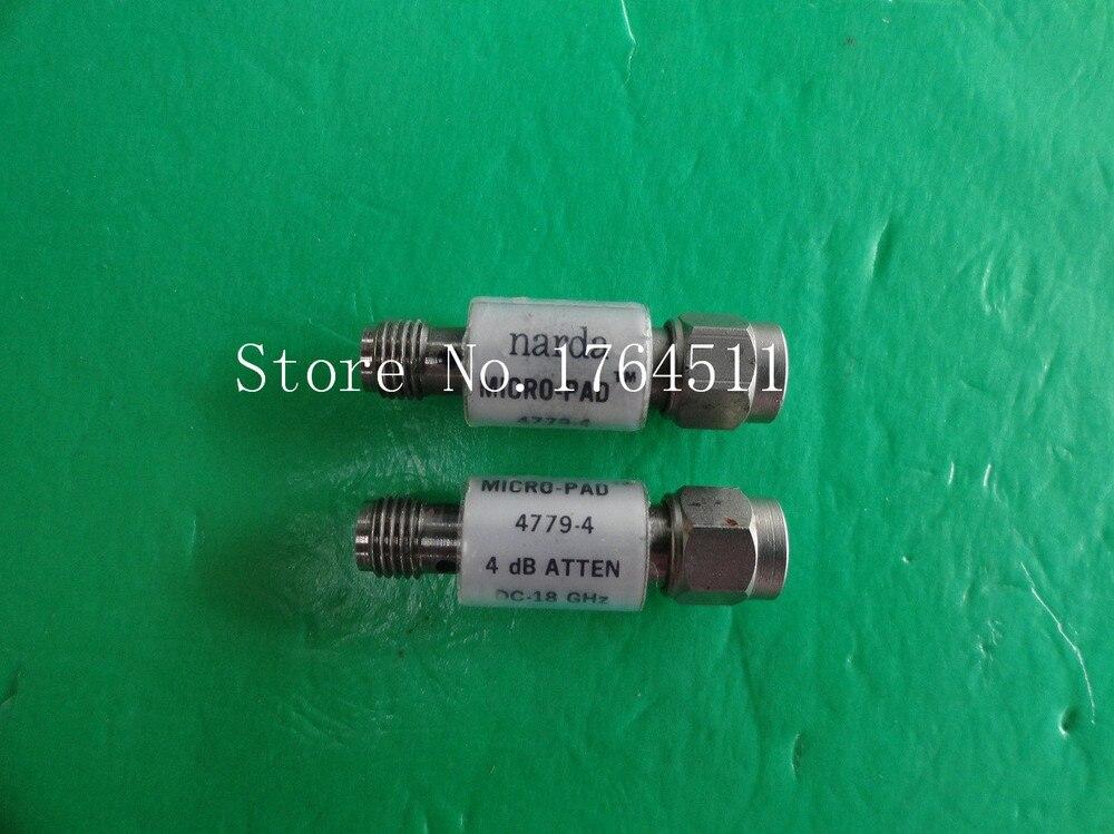 [BELLA] NARDA 4779-4 DC-18GHz 4dB 2W SMA Coaxial Fixed Attenuator  --2PCS/LOT