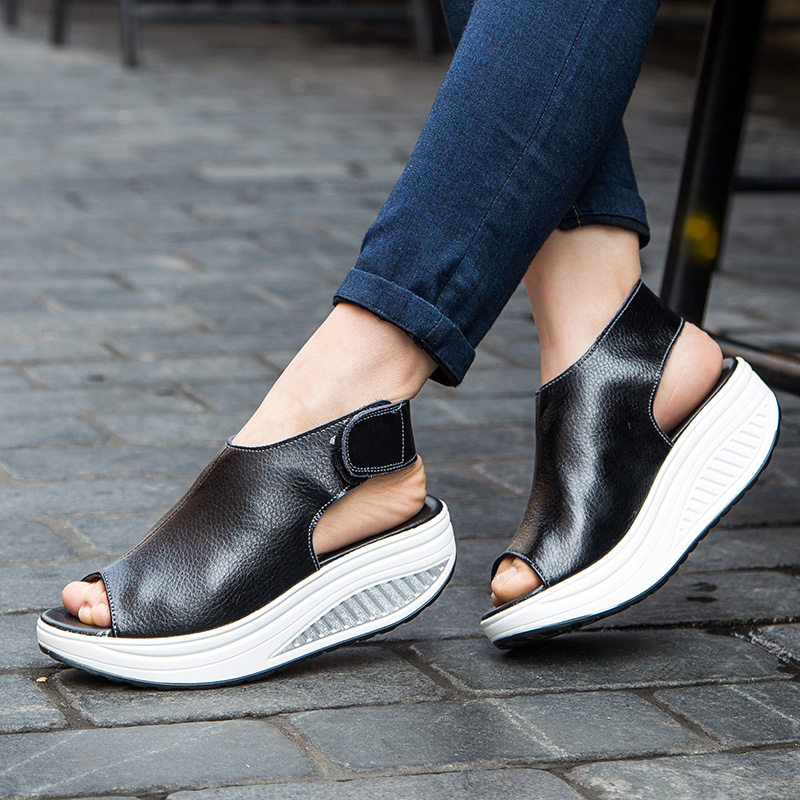 Women Shoes Sandals leather Sandals Summer Flip Flops 2017 High Quality Flat Sandals Gladiator Sandalias Mujer