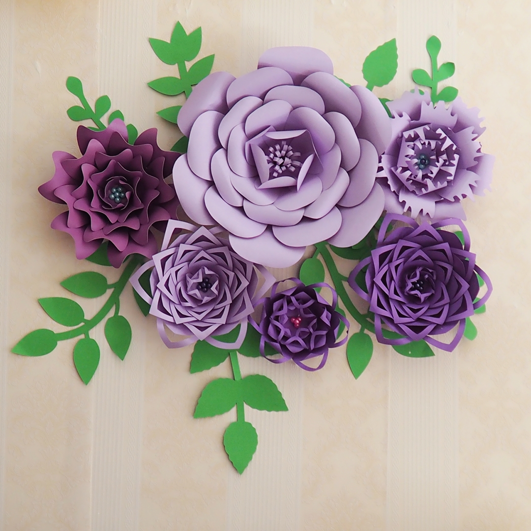 Aliexpress Buy 2018 Diy Large Paper Flower Full Kits Tutorials