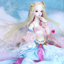 DBS doll 1/3 BJD mechanical joint Body With makeup Including hair eyes clothes 62cm height girls Dream Fairy