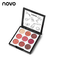 Novo Makeup palette Wet and Dry 9 Color Smooth Shimmer Matte Eyeshadow Palette M