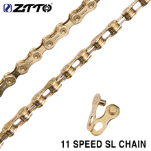 ZTTO 11s SL Golden Half Hollow Chain 22s 11 Speed MTB Mountain Bike Road High Quality Durable Gold For Parts K7 System
