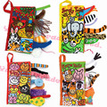 10 pages Animal Tails cloth book Activity Book Baby Toy Cloth Development Books Learning & Education Unfolding books 2015 hot