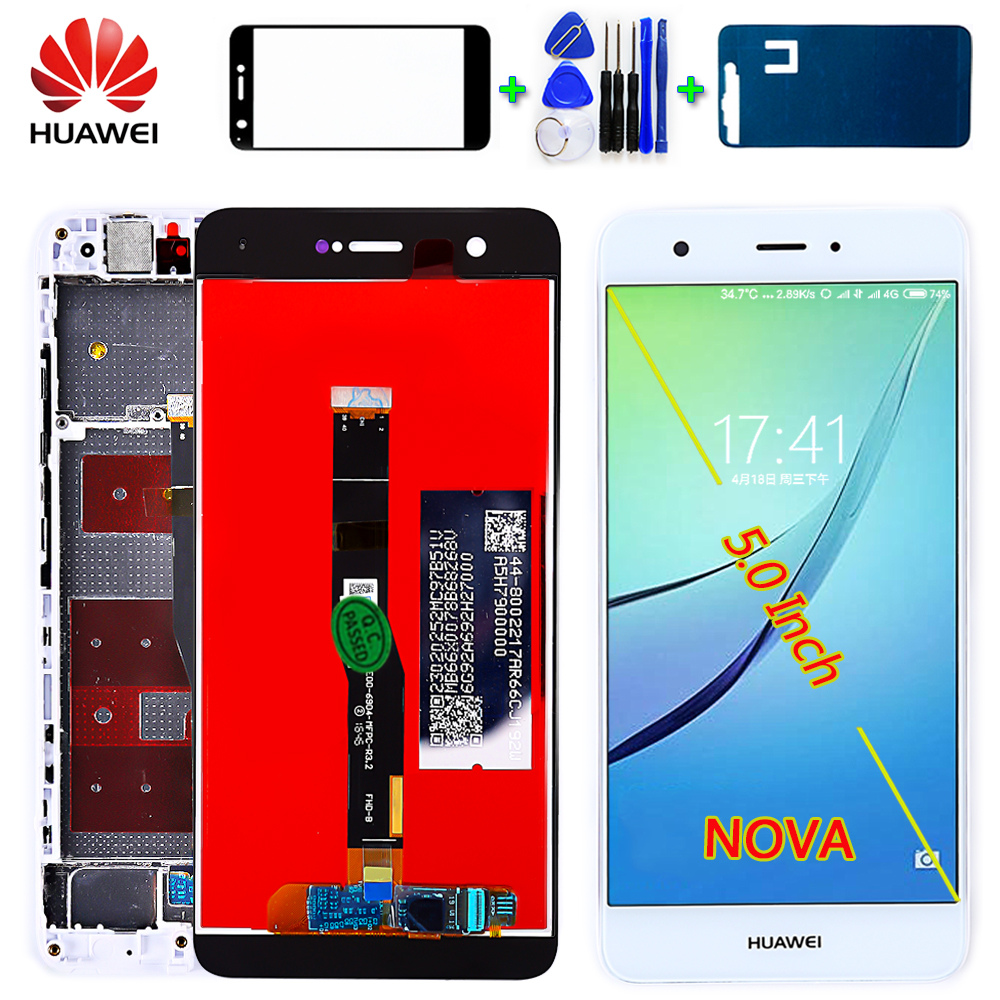 Huawei Nova CAZ-AL10 CAN-L13 CAN-L03 CAN-L12 CAN-L02 CAN-L11 CAN-L01 LCD Display Touch Screen Digitizer Assembly Frame With Gift