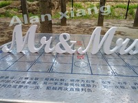 free shipping Sign Mr & Mrs Mr Mrs Chair Signs Mr and Mrs Weddingdecoration letters