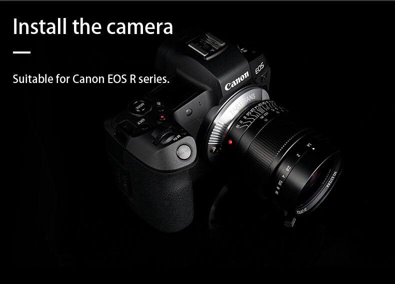 Bague d'adaptation 7 artisans pour objectif de montage M pour appareil photo Canon EOS R LM-EOSR - 3