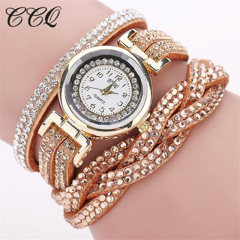 Fashion Casual Quartz Women - Watch Braided Leather Bracelet Watch Gift 1