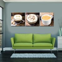 Modular Wall Paintings Brown A Cup Of Coffee Wall Art Painting Pictures Print On Canvas Food The Picture for Home Modern Decor