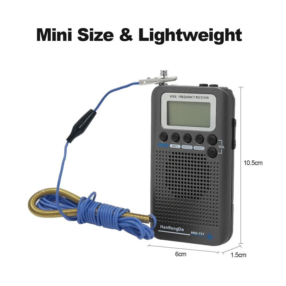 HanRongDa HRD 737 récepteur de bande Radio Portable à bande complète FM/AM/SW/CB/Air/VHF avec réveil à écran LCD-in Radio from Electronique    2