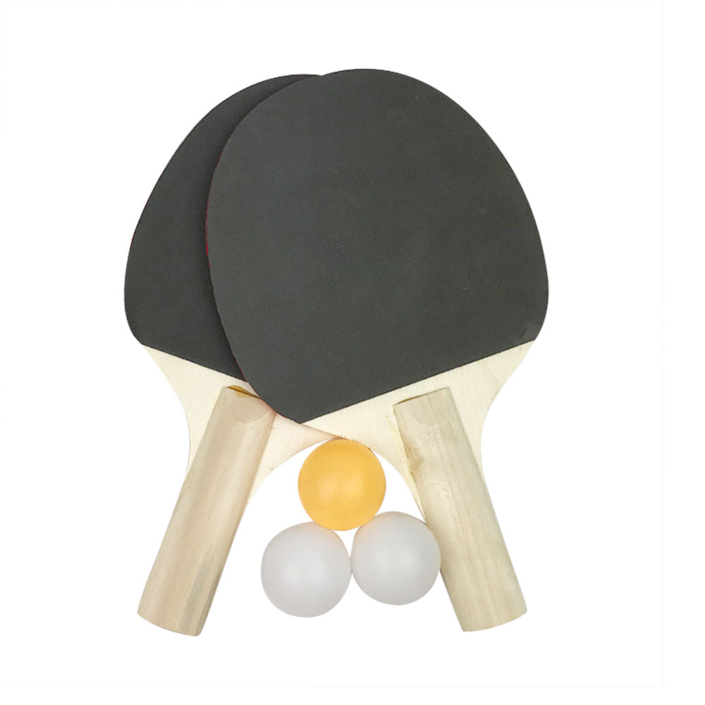 Table Tennis Bat Racket Double Face Pimples In Long Short Handle Ping Pong Paddle Racket Set Ping Pong Balls