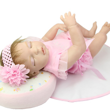 Rooed Mohair Boneca Full Silicone Vinyl Bodied Girl Reborn Baby Doll 22 Inch Princess Girls Sleeping Newborn Dolls Kids Playmate