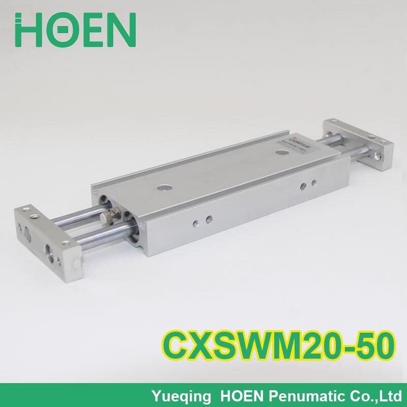 CXSM CXSJ CXSW série CXSWM20-50 20mm alésage 50mm course double tige cylindre roulement à glissière double tige pneumatique cylindre CXSW20-50