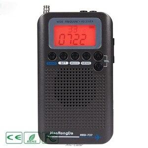 Image 4 - HRD 737 digital display lcd rádio banda completa portátil fm/am/sw/cb/ar/vhf mundo banda receptor estéreo rádio com despertador